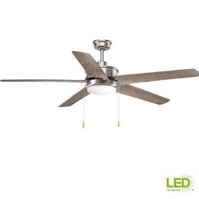 Whirl Collection 60 in. LED Antique Nickel Ceiling Fan