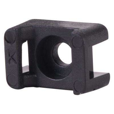 0.120 in. Hole Saddle Tie Mount, Black (100-Pack)