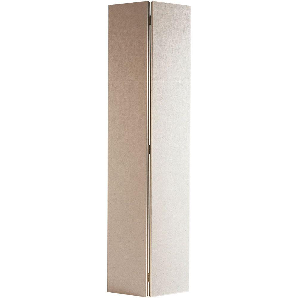 24 in. x 80 in. Flush Hardboard Primed White Hollow-Core Smooth