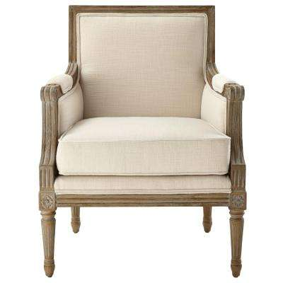 Miria Carre Natural Upholstered Accent Chair