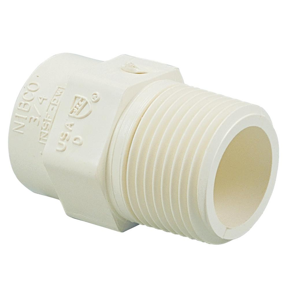 NIBCO 1/2 in. CPVC CTS Socket x MIP Male Adapter Fitting