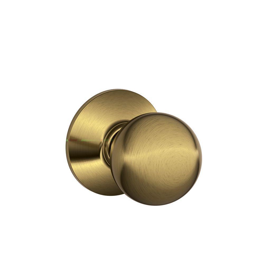Orbit Antique Brass Passage Hall/Closet Door Knob