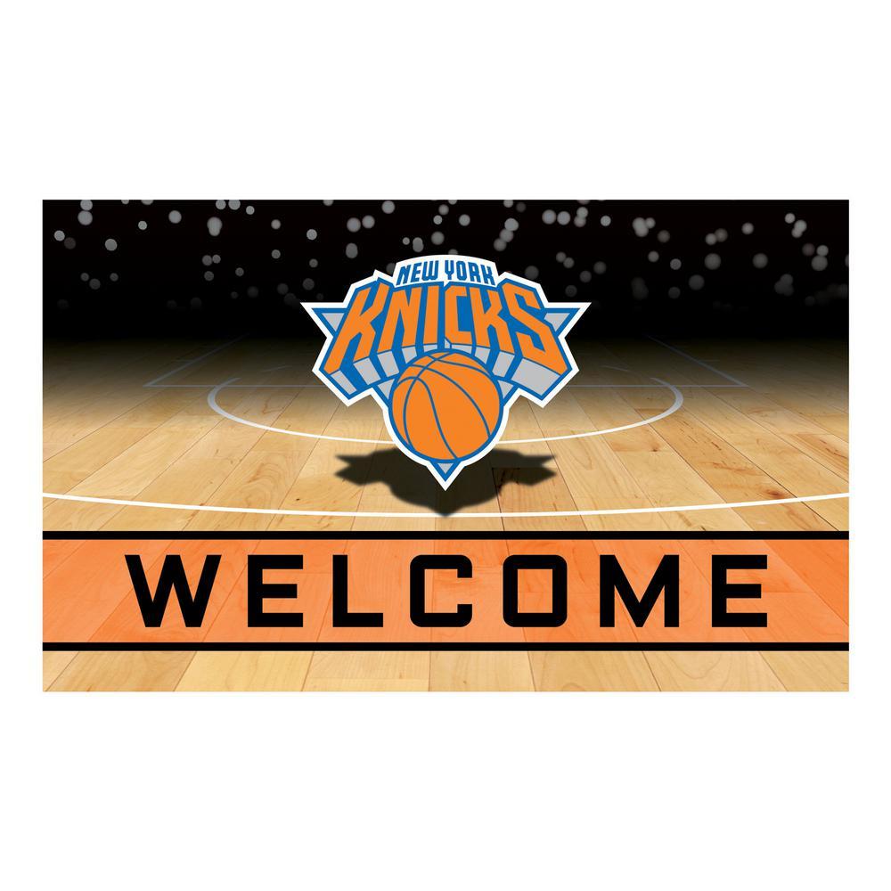 Fanmats Nba New York Knicks 18 In X 30 In Rubber Door Mat 21959 The Home Depot