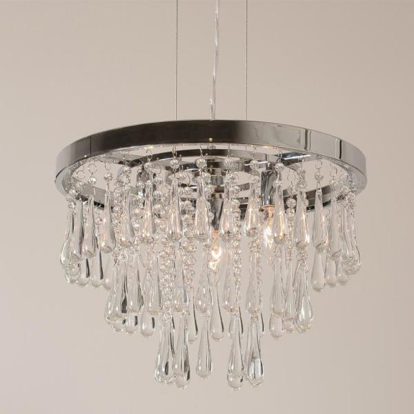 Cawthorn Crystal 3-Light Chrome Pendant