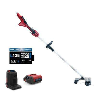 60-Volt Max Lithium-Ion Brushless Cordless 14 in. / 16 in. String Trimmer - 2.5 Ah Battery and Charger Included