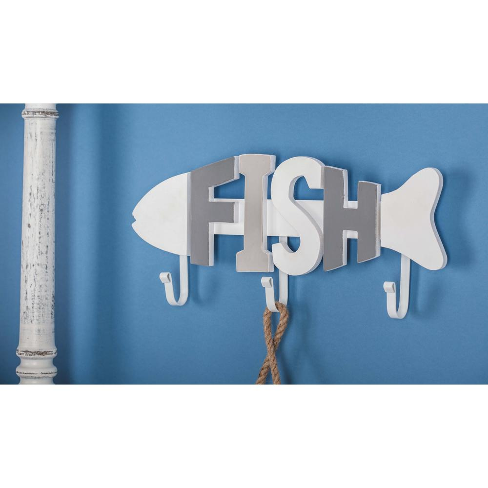 7 in. x 15 in. Coastal Living Wood and Metal Fish