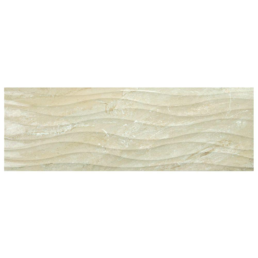 Merola Tile Ocean Beige 11-3/4 in. x 35-1/2 in. Ceramic Wall Tile (11.66 sq. ft. / case)