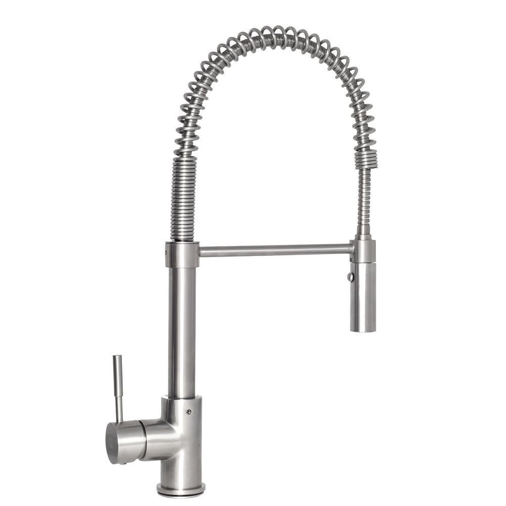 ZLINE Kitchen and Bath Sierra Single-Handle Pull-Down Sprayer Kitchen Faucet in Stainless Steel