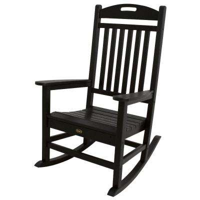 Yacht Club Charcoal Black Patio Rocker