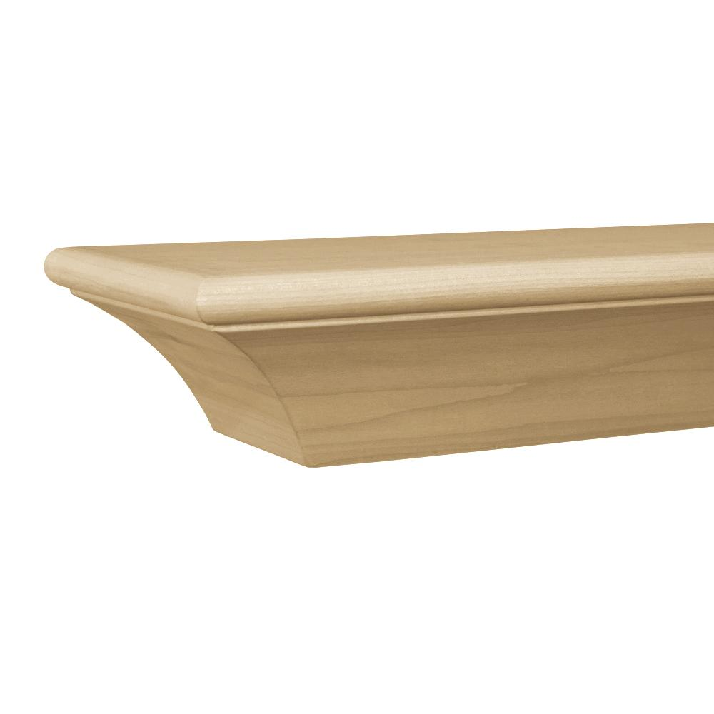 Contemporary 72 in. x 3.75 in. Paint Grade Cap-Shelf Mantel