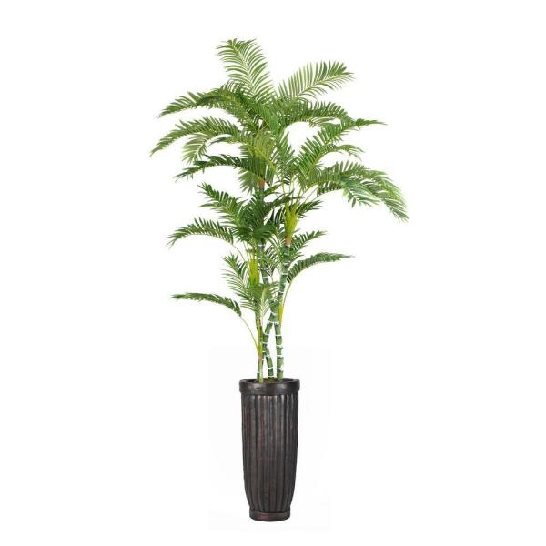 Laura Ashley 93 in. Tall Palm Tree in Planter VHX112214