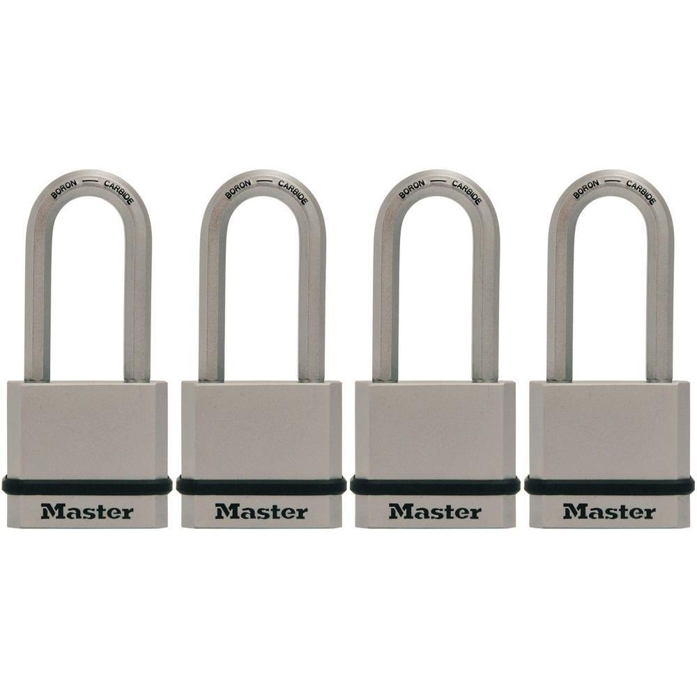 1215c220a38e Master Lock M530XQLH Magnum 1-3/4 in. Solid Steel Keyed Padlock with 2 in.  Extra Long Shackle (4-Pack)