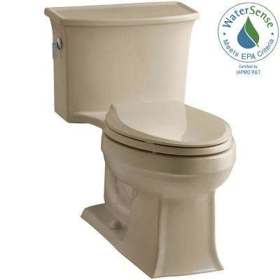 Archer 1-piece 1.28 GPF Single Flush Elongated Toilet in Mexican Sand