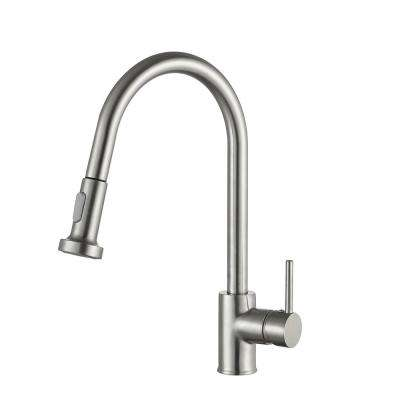 Tycho Single-Handle Pull-Out Sprayer Kitchen Faucet in Brushed Nickel