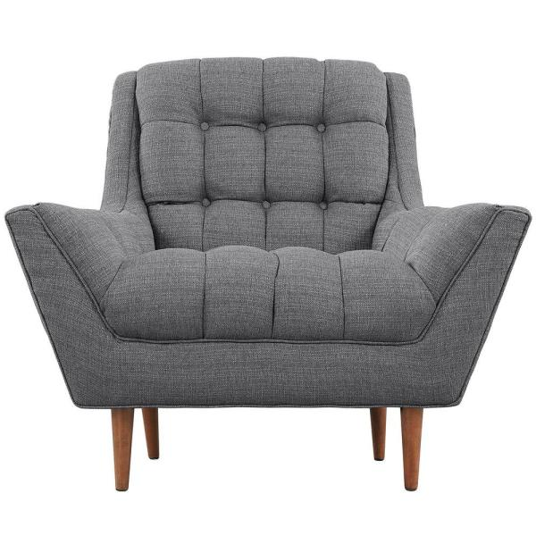 MODWAY Response Gray Upholstered Fabric Armchair EEI-1786-DOR