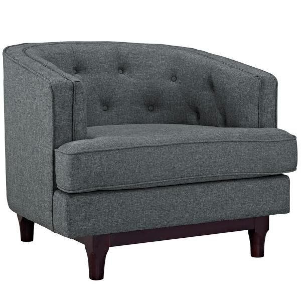 MODWAY Gray Coast Upholstered Arm Chair EEI-2130-GRY