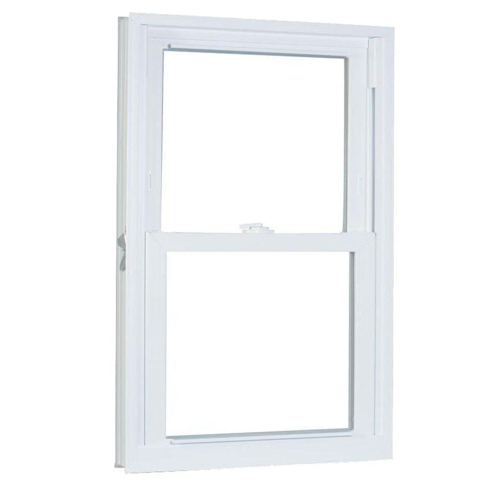 American Craftsman 27.75 in. x 45.25 in. 70 Series Pro Double Hung White Vinyl Window with Buck Frame