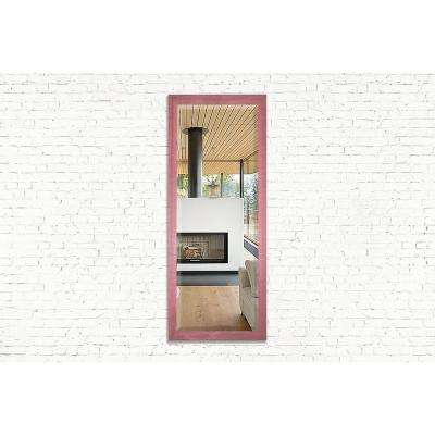 59.5 in. x 20.5 in. Vintage Pink Framed Beveled Tall Mirror