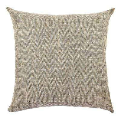 18 in. x 18 in. Classical Brown Pillow