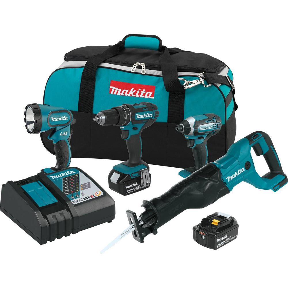 18-Volt LXT Lithium-Ion Cordless Combo Kit (4-Piece) (Hammer Drill/ Impact