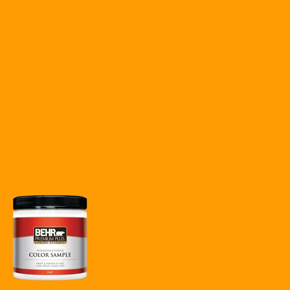 8 oz. #S-G-320 Atomic Tangerine Interior/Exterior Paint Sample