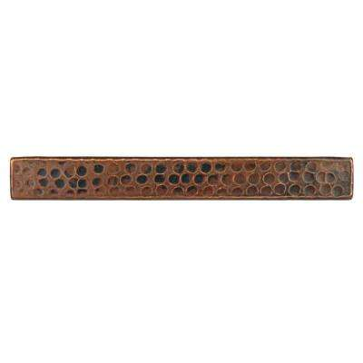 1 in. x 8 in. Hammered Copper Decorative Wall Tile in Oil Rubbed Bronze (4-Pack)