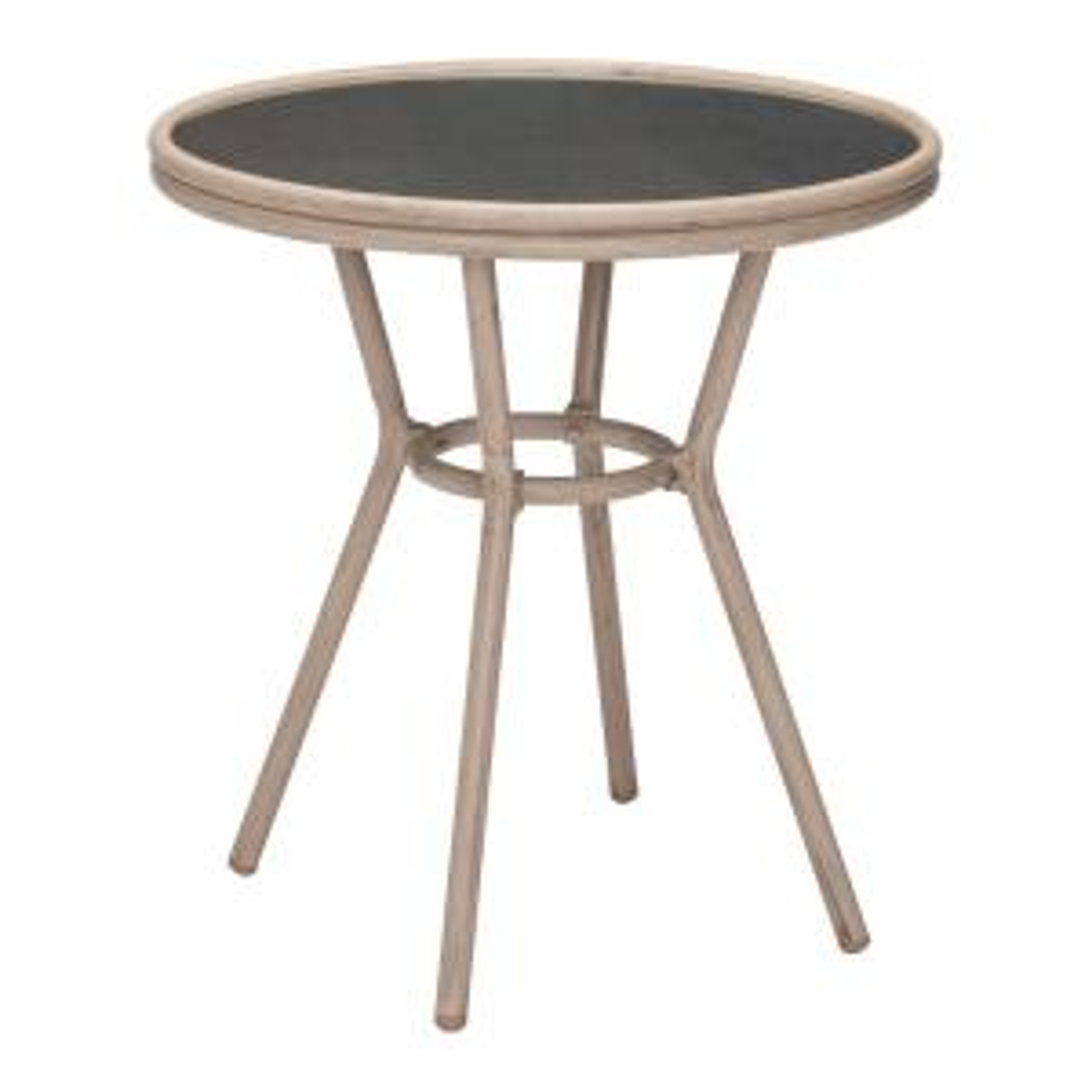 mareilles patio bistro table in dark brown