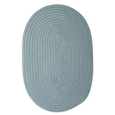 Trends Federal Blue 7 ft. x 9 ft. Braided Oval Area Rug