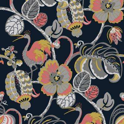 Genevieve Gorder Tropical Fete Really Rouge Self-Adhesive Removable Wallpaper