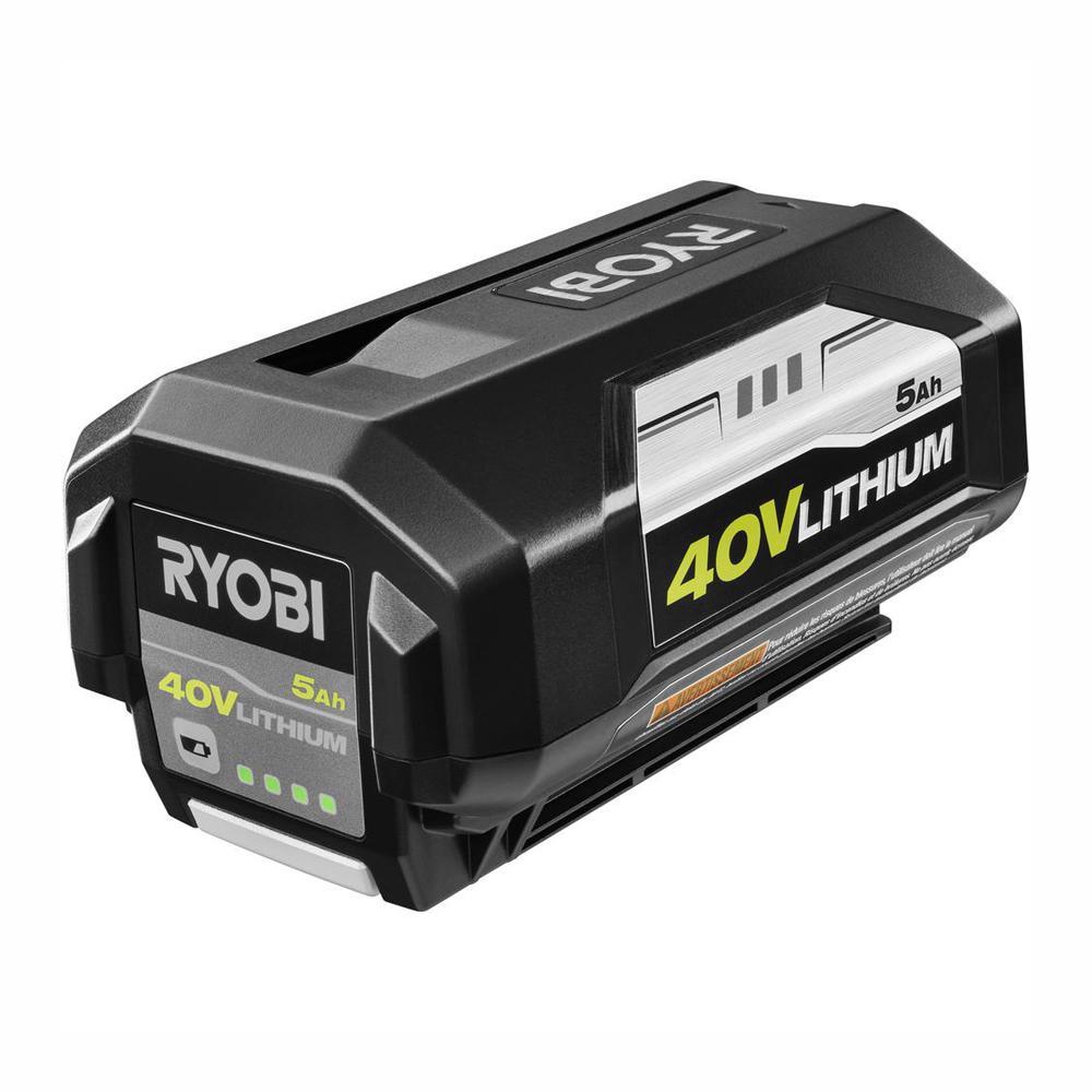 High Amp Battery >> Ryobi 40 Volt Lithium Ion 5 Ah High Capacity Battery Op4050a The