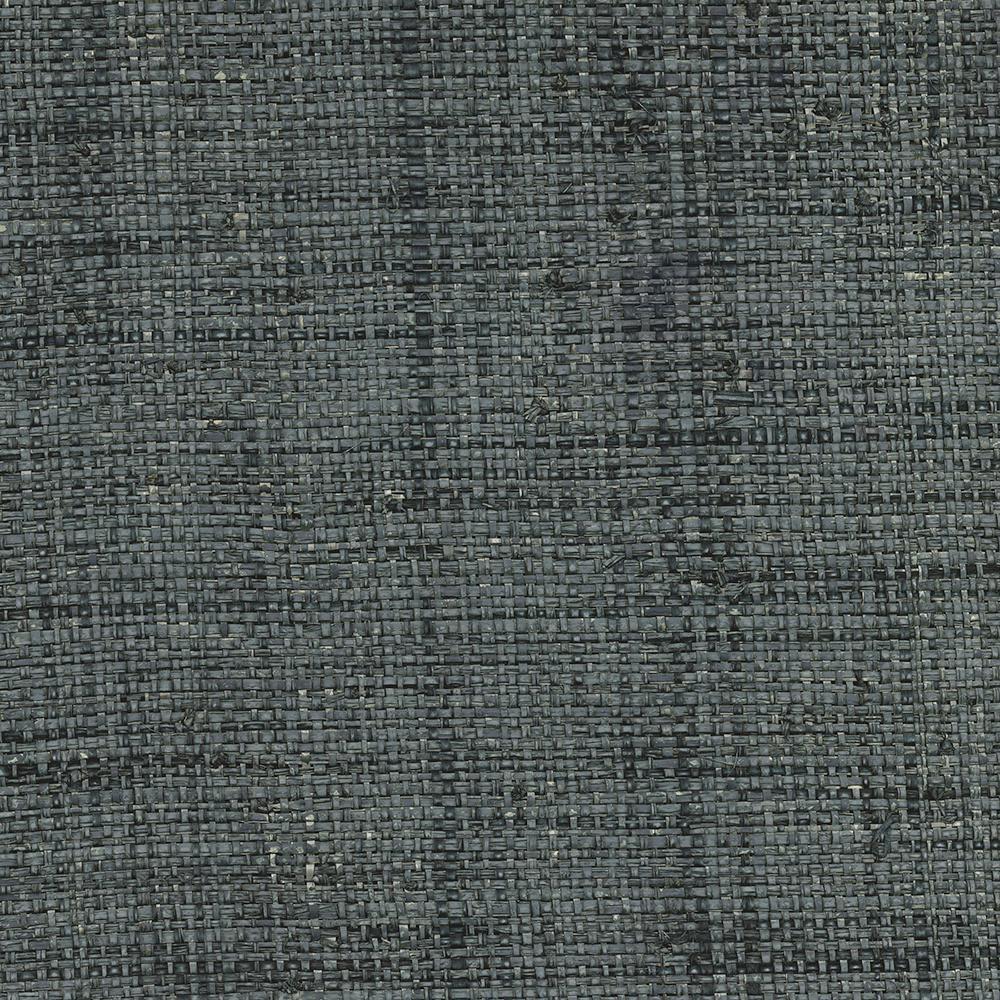 8 In X 10 In Mindoro Denim Grass Cloth Wallpaper Sample
