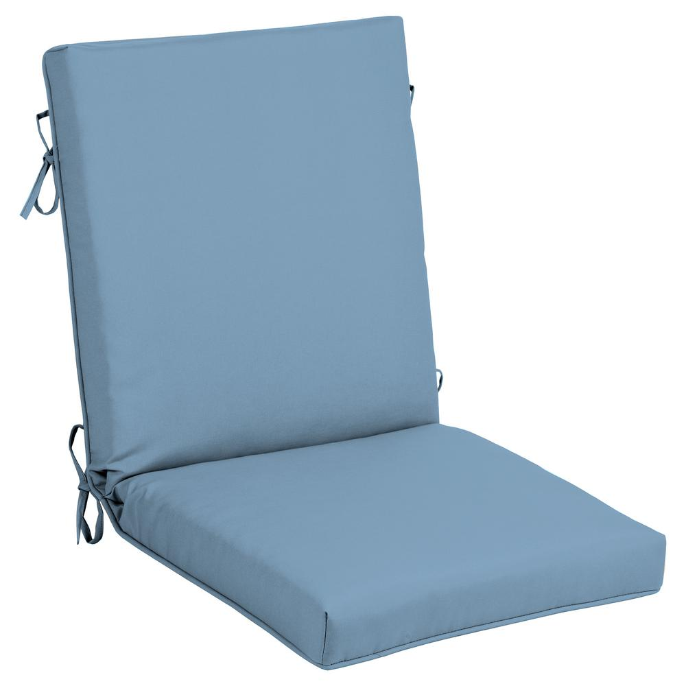 Cushionguard Denim Outdoor High Back Dining Chair Cushion