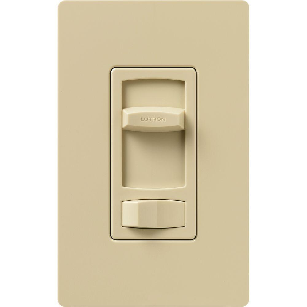 Lutron Skylark Contour 600-Watt Single-Pole/3-Way Preset Eco-Dimmer - Ivory