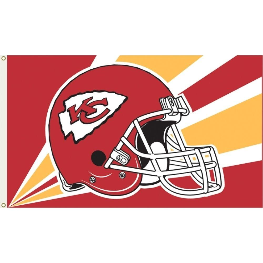 3 ft. x 5 ft. Polyester Kansas City Chiefs Flag