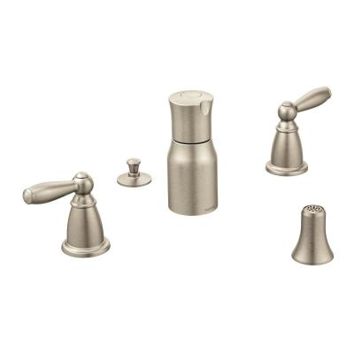 Brantford 2-Handle Bidet Faucet in Brushed Nickel (Valve Sold Separately)