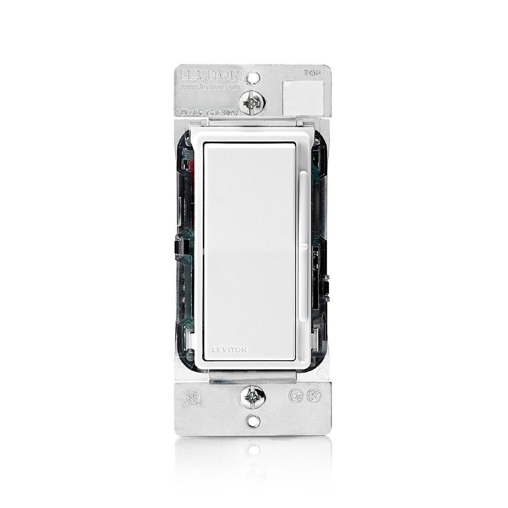 Decora Rocker Slide Mark 7 Dimmer for 0-10VDC Fluorescent Loads or LED Power Supply, White/Ivory/Light Almond