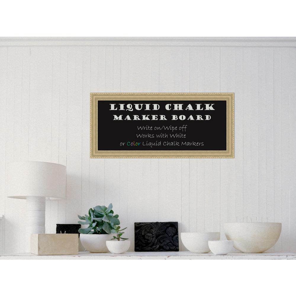 Champagne Teardrop Wood 33 in. W x 15 in. H Framed Liquid Chalk Marker Board