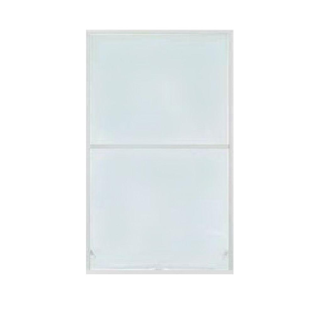 S-9 24 in. x 46 in. White Aluminum Awning Window Screen