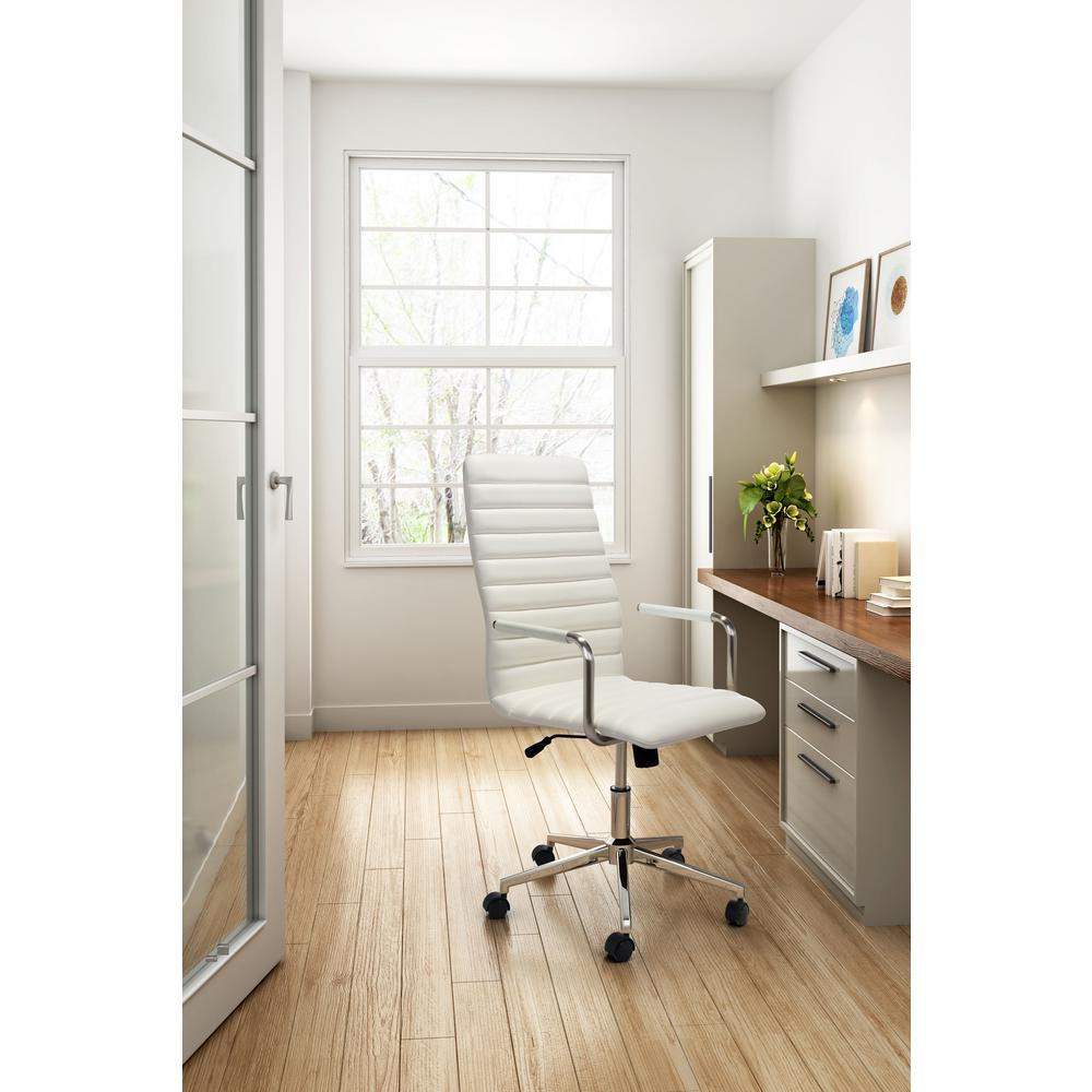 Pivot White Office Chair