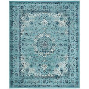 Evoke Light Blue 8 ft. x 10 ft. Area Rug