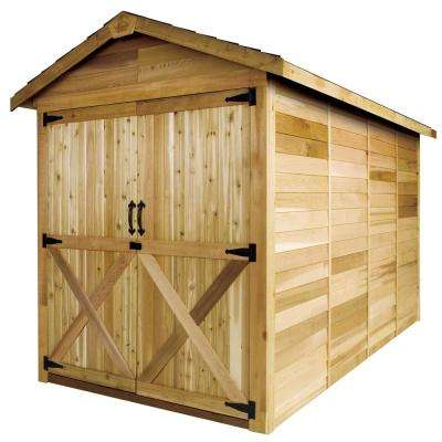 Rancher 6 ft. x 12 ft. Western Red Cedar Garden Shed