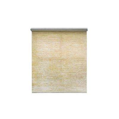 Cut-to-Size Heather Tan Cordless Light Filtering Natural Fiber Roller Shade 55 in. W x 72 in. L