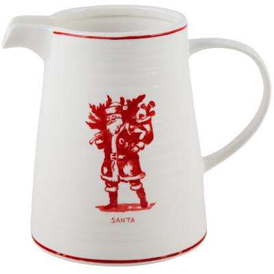 7 in. H Santa Pitcher