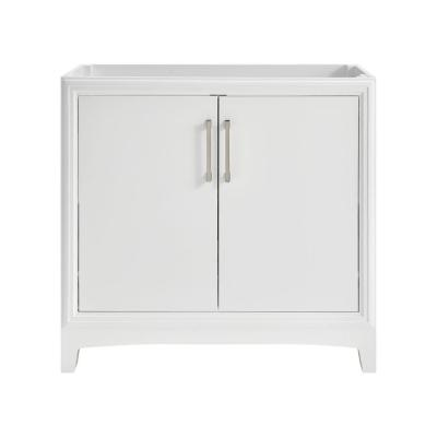 Hillcroft 36 in. W x 21.5 in. D Unassembled Bath Vanity Cabinet Only in White
