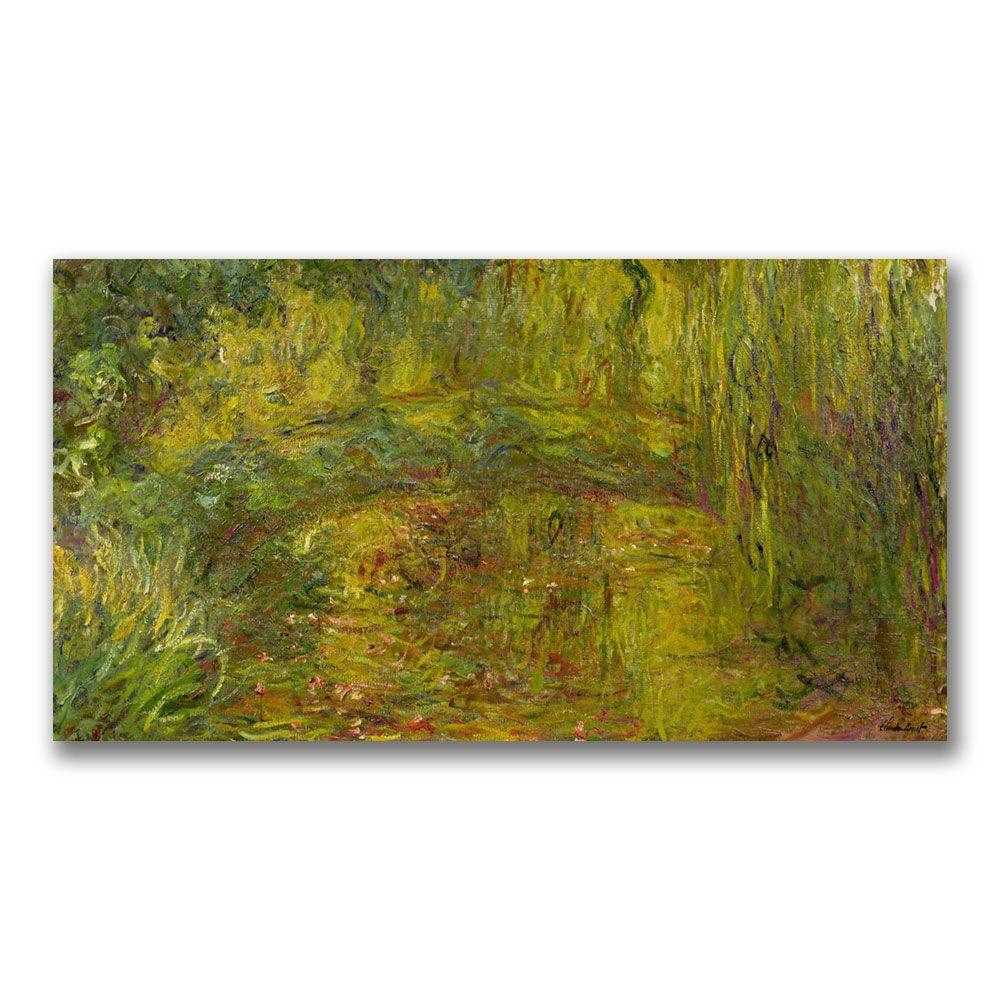 Trademark Fine Art 24 in. x 47 in. The Japanese Bridge II Canvas ...
