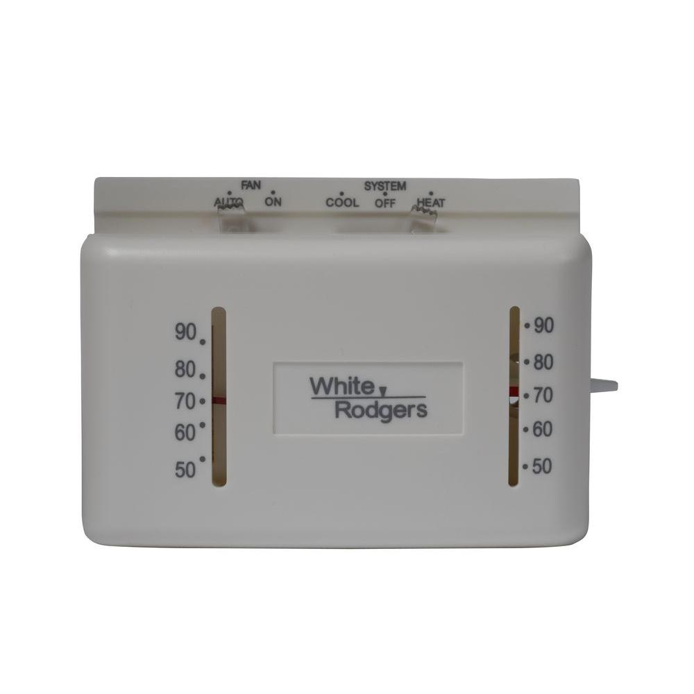 White Rodgers M150 Heat/Cool Mechanical Non-Programmable Thermostat