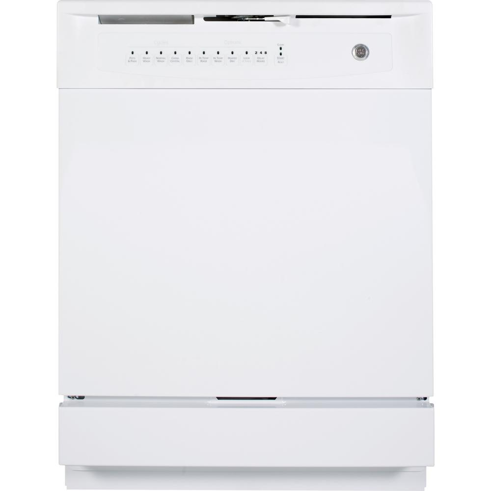 Ge Front Control Dishwasher In White 60 Dba Gsd4000kww