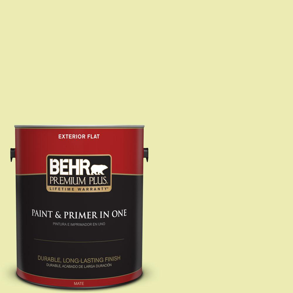 BEHR Premium Plus 1-gal. #410A-2 Cabbage Green Flat Exterior Paint