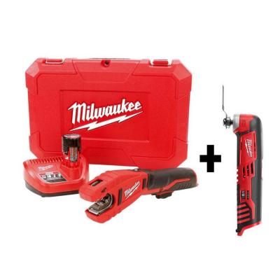 M12 12-Volt Lithium-Ion Cordless Copper Tubing Cutter Kit W/ Free M12 Multi-Tool