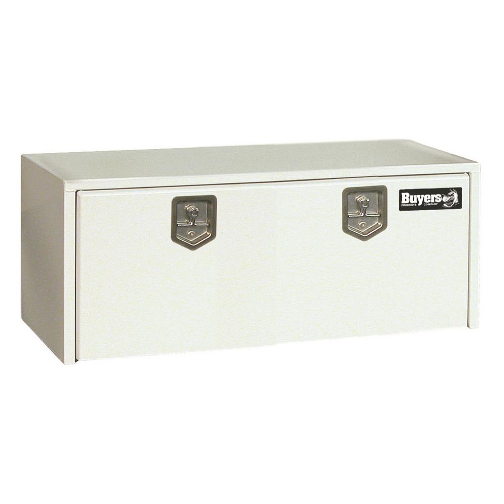 White Steel Underbody Truck Box with T-Handle Latch, 24 in. x
